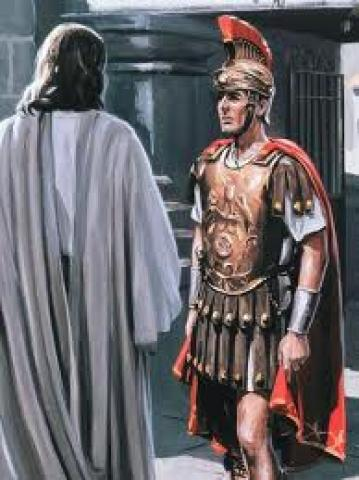 Image result for picture of jesus with the centurion